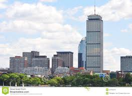 prudential center in back bay boston royalty free stock image