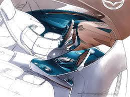 mazda north america mazda shinari concept interior design sketch by julien montousse