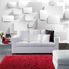 modern block grid 3d wall mural wallpaper for living room tv sofa