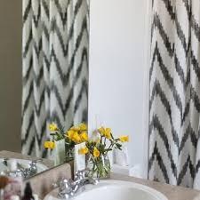 Kassatex Shower Curtain Kassatex Grey And White Chevron Shower Curtain