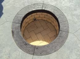 Concrete Fire Pit by Concrete Walls In Firepit Lawnsite