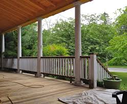 installing front porch handrails how to build front porch