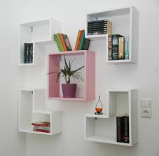 pretty inspiration on the wall book shelf creative design