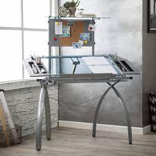 studio designs glass top futura tower drafting station hayneedle Drafting Table Glass