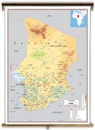 Africa Geography Map by Chad Physical Educational Wall Map From Academia Maps