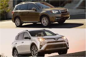 toyota cars rav4 2018 subaru forester vs 2018 toyota rav4 to u s