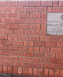 memorial brick wall los angeles police museum