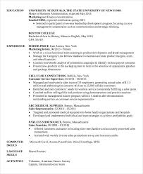 Marketing Resume Sample Pdf by Mba Marketing Resume A Blog About Resume Samples And Templates Of
