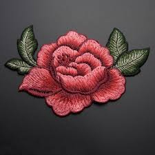 13 9cm 3d peony flower patch embroidered garment appliques