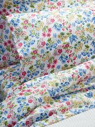 Percale Sheet Set Floral Garden Sheet Set Cotton Percale Sheets From Portugal