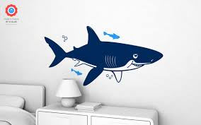 underwater shark xl wall decal nursery kids rooms wall decals shark kids wall decals xl