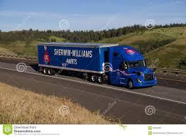 volvo trucks usa sherwin williams semi truck blue volvo editorial photo image