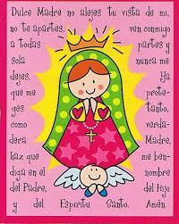 imagenes de virgen maria infantiles oraciones para niños virgencita oración y distroller