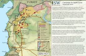 Syria Map Of Control by The Campaign For North Syria Institute For The Study Of War