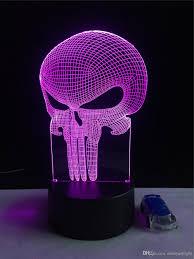 2017 halloween lights punitive mask night light 3d lamps led
