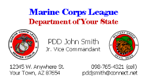 Marine Business Cards Donations With Labels Mcl