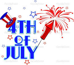 4th of july nails clipart