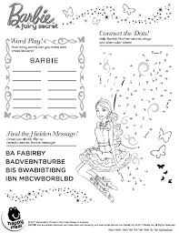 barbie fairy secret coloring pages periodic tables