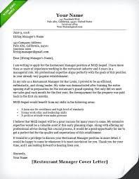 restaurant sample resume restaurant manager cover letter sample