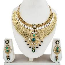 set of gold gold plated necklace set by vidhi abc123 necklace sets