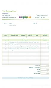 basic invoice template open office design invoice template