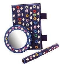 gifts stylish beaded pocket diary with pen