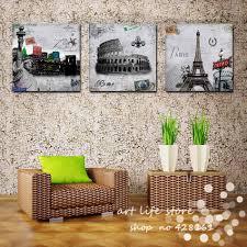 aliexpress com buy 3 piece sell modern wall painting paris