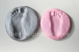 salt dough footprint keepsakes the imagination tree