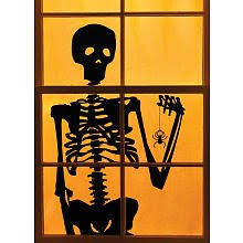 martha stewart crafts window door cling silhouette skeleton
