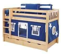 Boys Play Fort Bunk Bed By Maxtrix Kids Navy Blue White On - Maxtrix bunk bed
