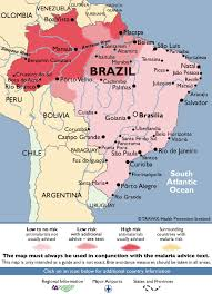 map of brazil brazil malaria map fit for travel