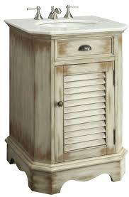 24 inch bathroom vanity cottage beach style distressed beige color