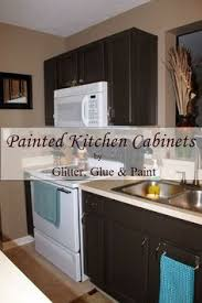 Painting Kitchen Cabinets Brown by Brown Painted Kitchen Cabinets U0026 Silver Hardware Looks Like Our