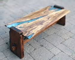 live edge table with turquoise inlay live edge rustic oak with turquoise inlay coffee table