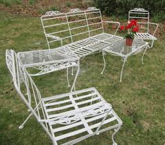 Green Wrought Iron Patio Furniture by Wrought Iron Garden Set Cool Interesting Ideas Vintage Wrought