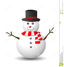 snowman with red and white scarf royalty free stock photography