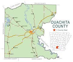 Camden County Maps Ouachita County Map Encyclopedia Of Arkansas