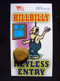 hillbilly keyless entry white trash novelty gift lot 5 funny
