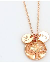 personalized family necklace sweet deal on personalized family tree necklace gold initial circle