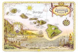 Hawaii World Map Repurposed Maps Make For Wanderlust Decor Poetic Home