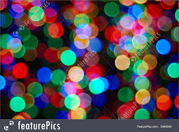 blur and bokeh christmas tree with out of focus lights closeup