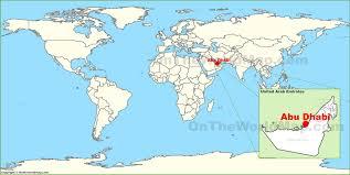 uae map abu dhabi on the world map