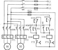 two motors for sequential starting circuit circuit diagram world