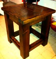Free Wood End Table Plans by Ana White Tryde Side Table Modified Plan Diy Projects