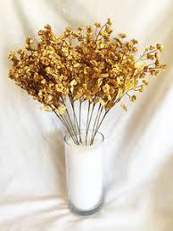 silk wedding flowers 12 baby s breath gold gypsophila silk wedding flowers