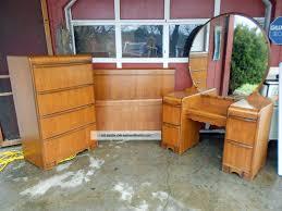 Bedroom Set With Vanity Dresser Antique 4 Pc Deco Waterfall Bedroom Set Bed Dresser