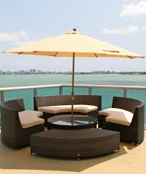 Outdoor Table Umbrella Source Outdoor Circa Wicker Round Coffee Table With Glass Wicker Com