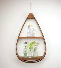 wood teardrop shelf 2 shelves home decor u0026 lighting the