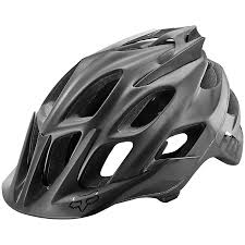 fox flux matte black bike helmet evo