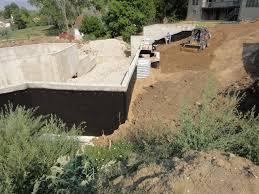 foundation backfill building a house